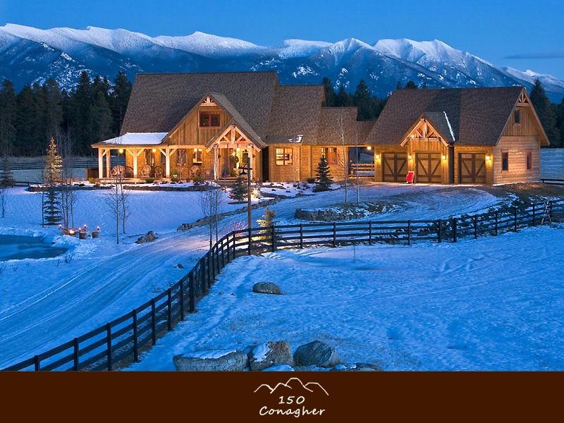 DREAMHOUSE WESTERN LIVING in Whitefish. 4500 sq feet on 10 acres... But with NO SNOW