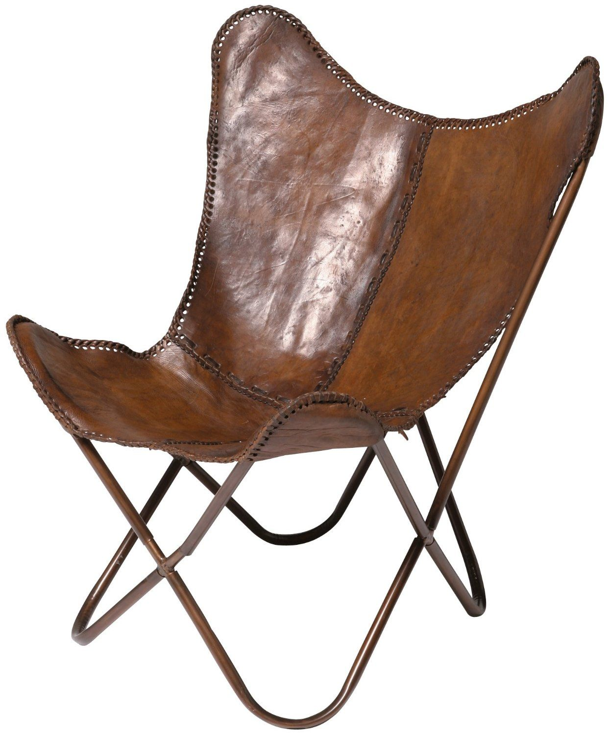 Lederen Vlinder Fauteuil.Kare 73490 Sessel Butterfly 皮件 Small Leather Items