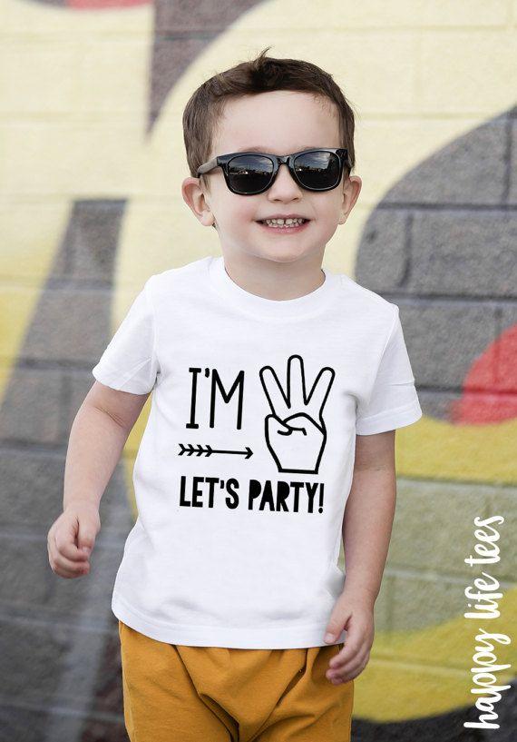 3rd Birthday Shirt Im Three Lets PARTY