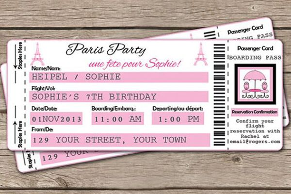 Ideias Para Convite De 15 Anos: 15 Convites Com Tema Paris Para A Festa De 15 Anos