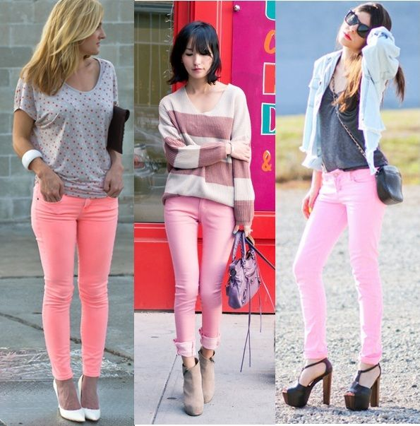 How-to-wear-pastel-pink-jeans-fashion-colour-trends-2012.jpg (595×603)