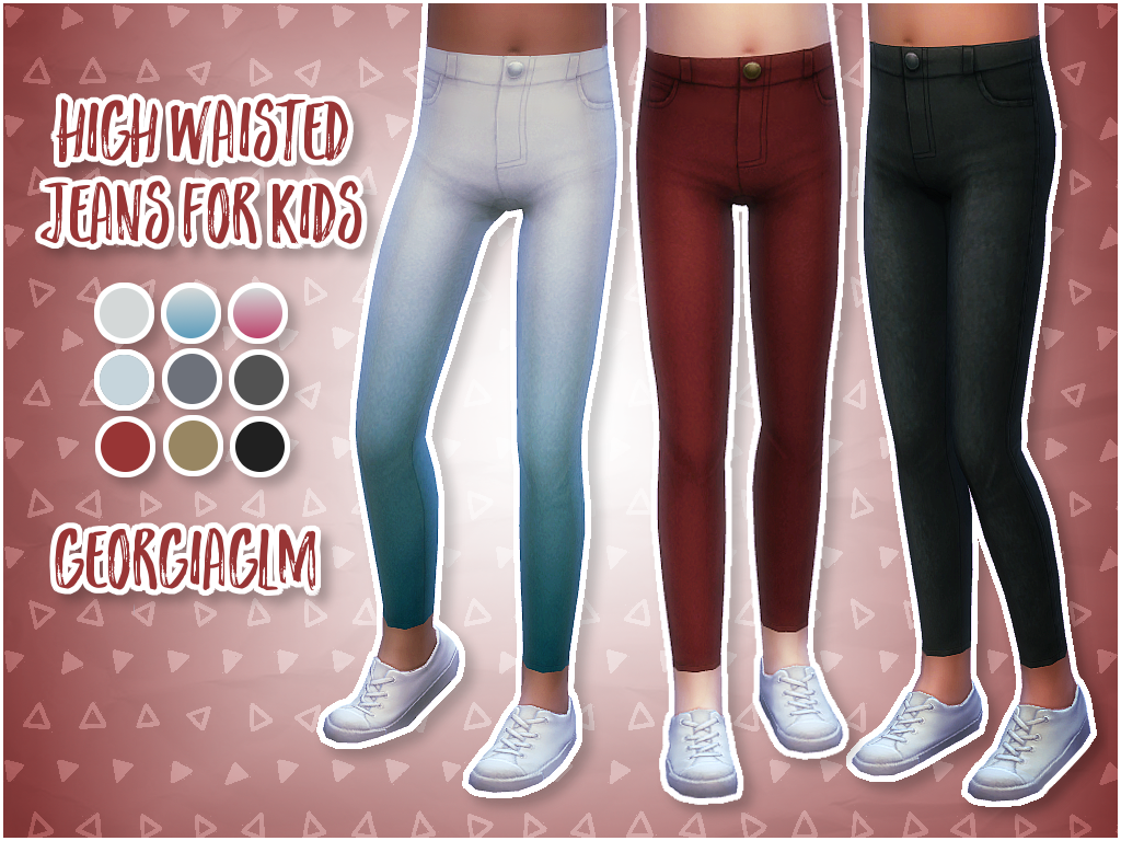 ⏩ High Waisted Jeans for Kids ⏪ | S I M S 4 | Sims 4 cc