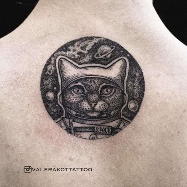 Valera Kot  #inkbe, #tattoo, #blackwork, #dotwork, #cat, #graphic
