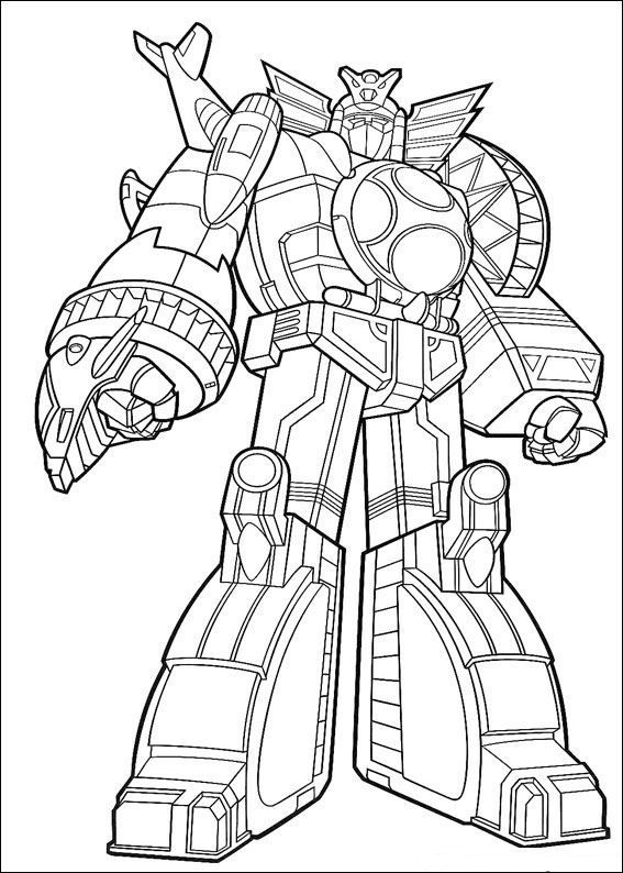 power rangers coloring pages | Power Rangers Megazord Coloring Pages ...