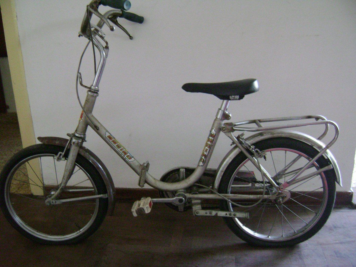 bicicleta usada, plegable