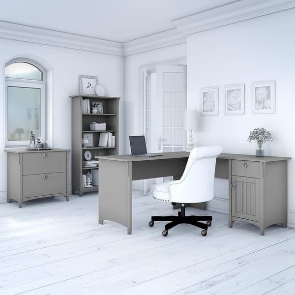 The Gray Barn Lowbridge Cape Cod Grey L-shaped Desk with ...