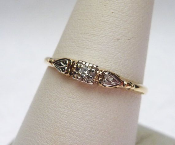 14k Keepsake Diamond Promise Ring