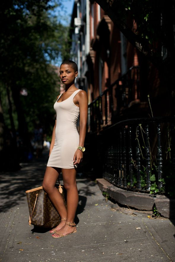 Minimalist summer tank dress and sandals