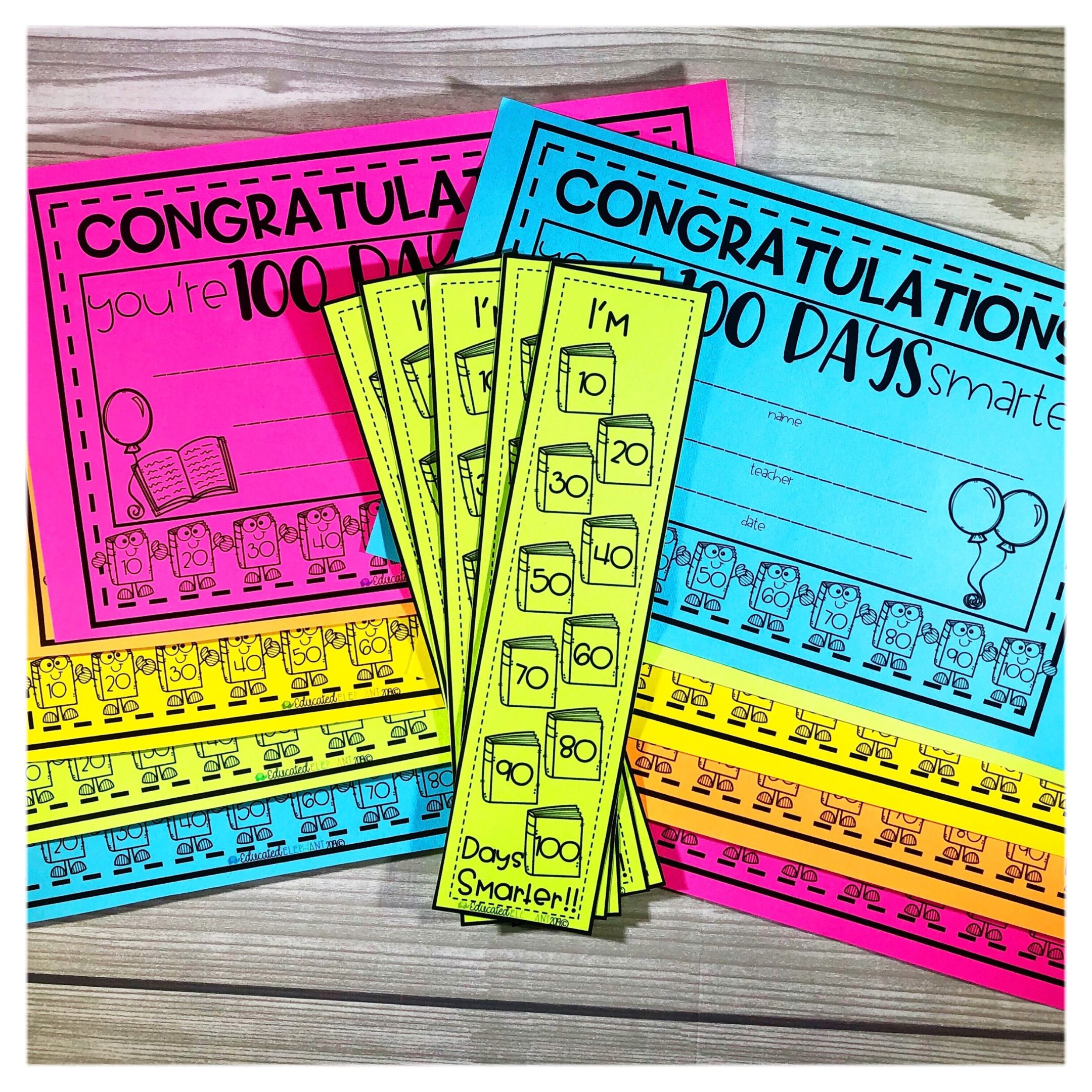 100th Day of School Activity Packet 100 days of school