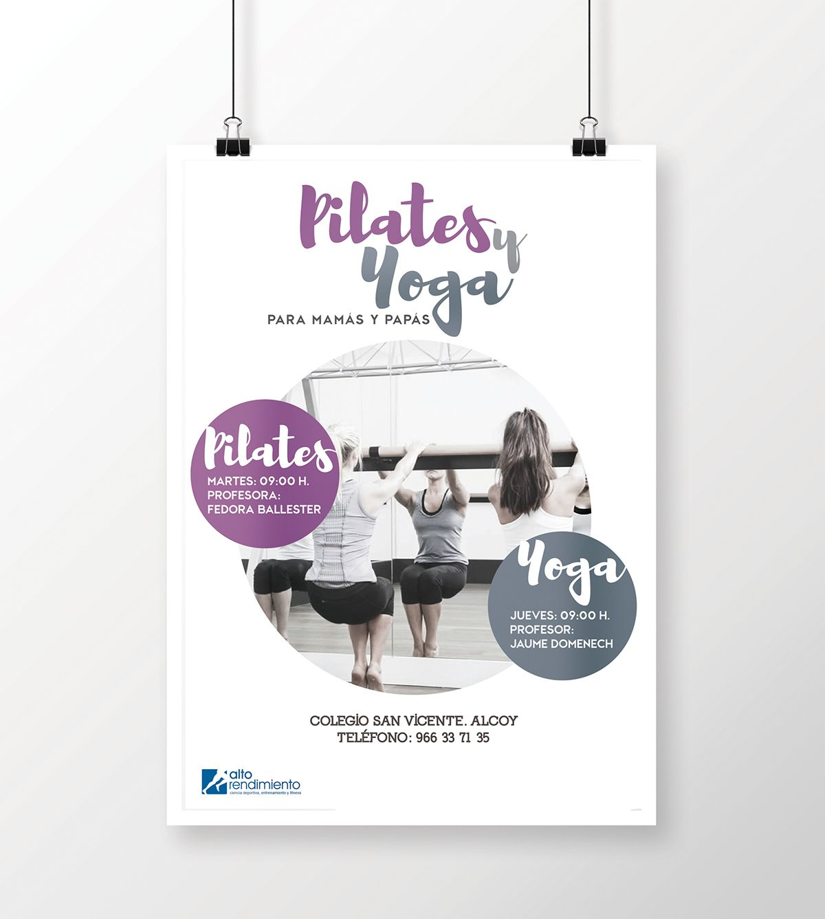 PILATES Y YOGA on Behance | Yoga Flyer | Pinterest | Folletos, Mi ...