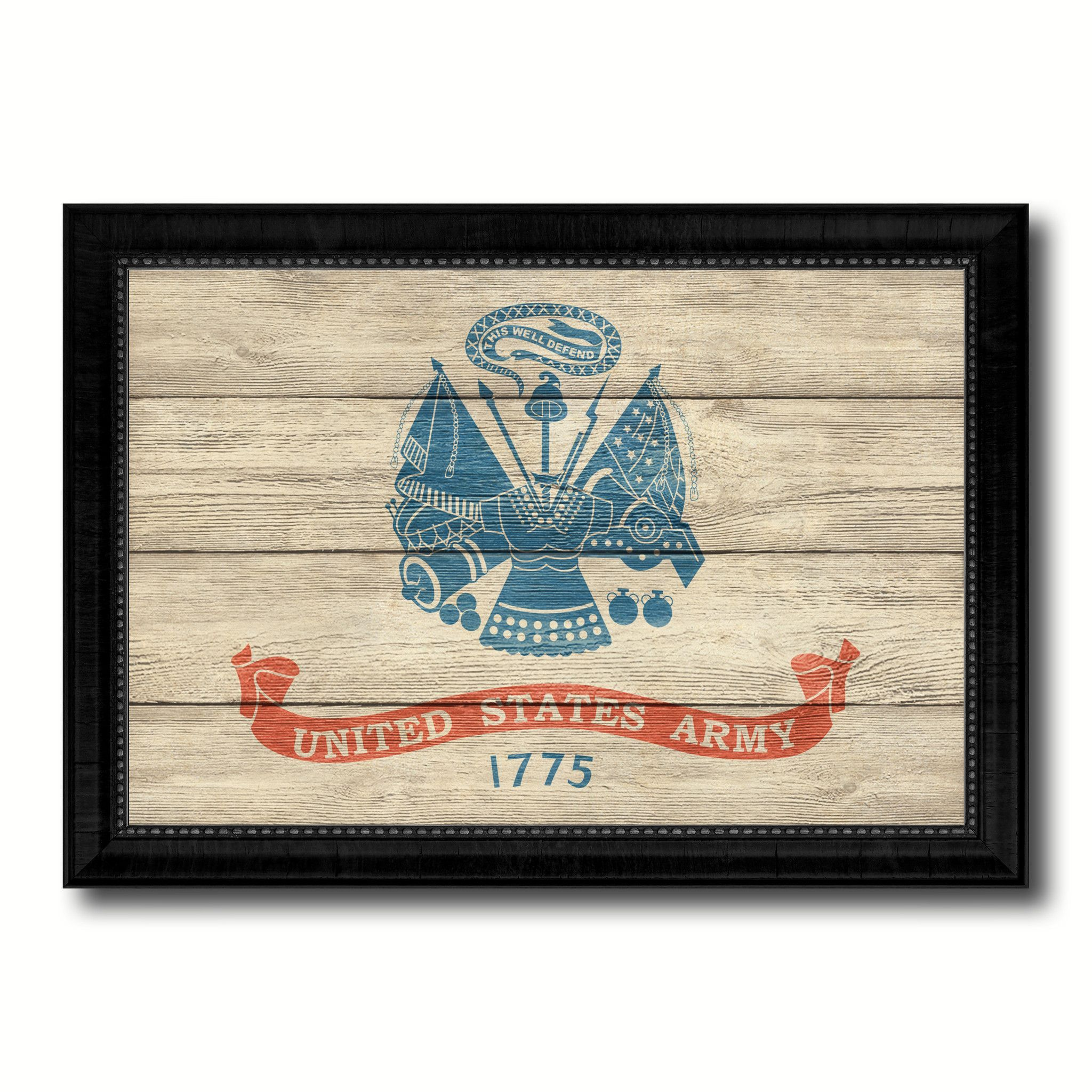 US Army Military Textured Flag Canvas Print, Picture Frame