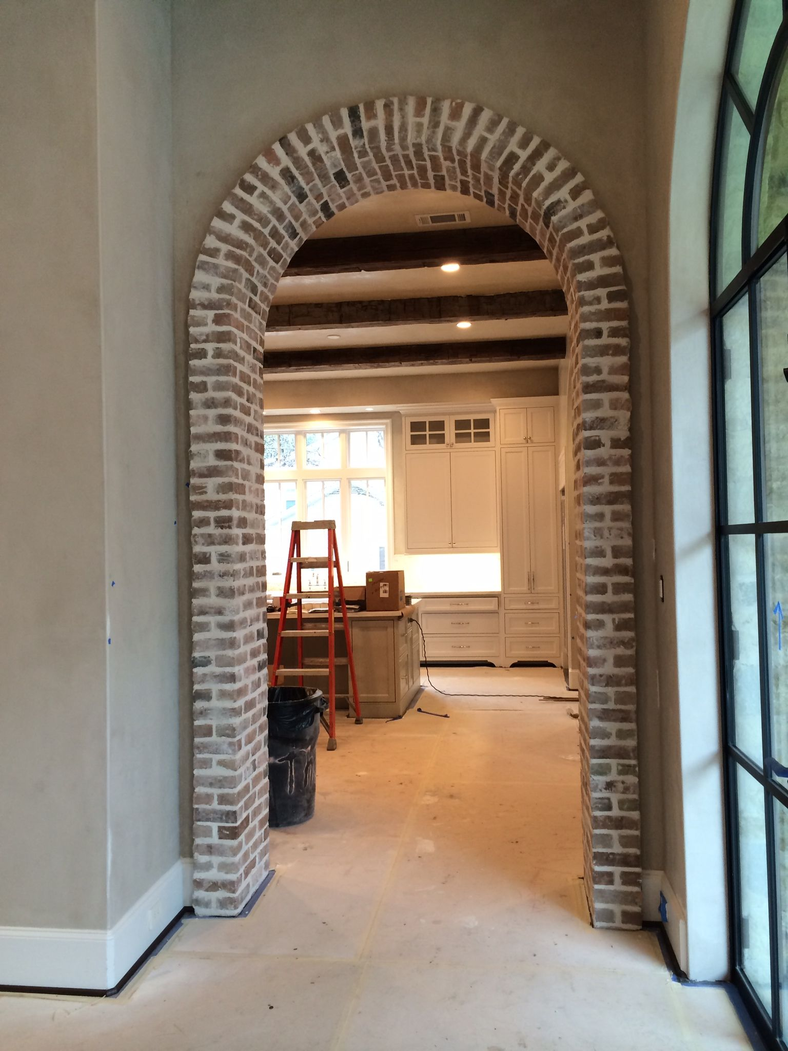 Thin brick arch interior brick walls pinterest brick for Interior arch designs photos