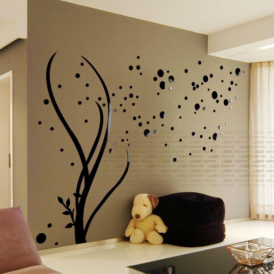 Free shipping 3D Stars Crystal three-dimensional Wall Stickers ...