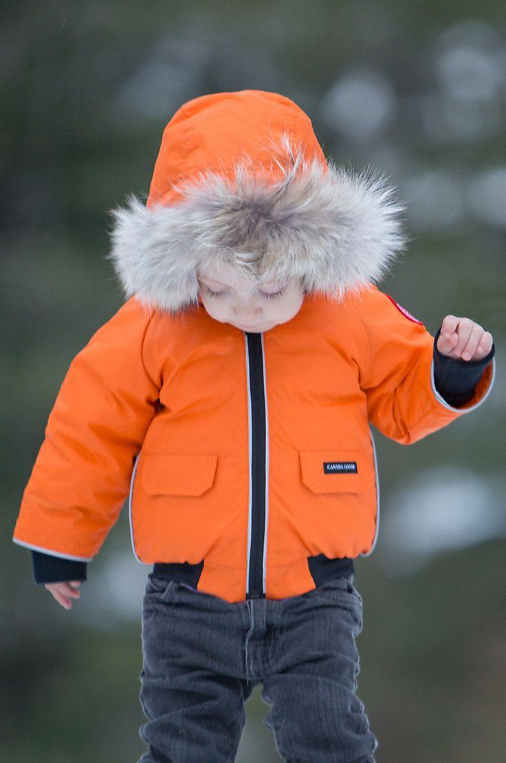 2b92bc3ef Children s Canada Goose Elijah Bomber Jacket with Coyote Fur Trim ...