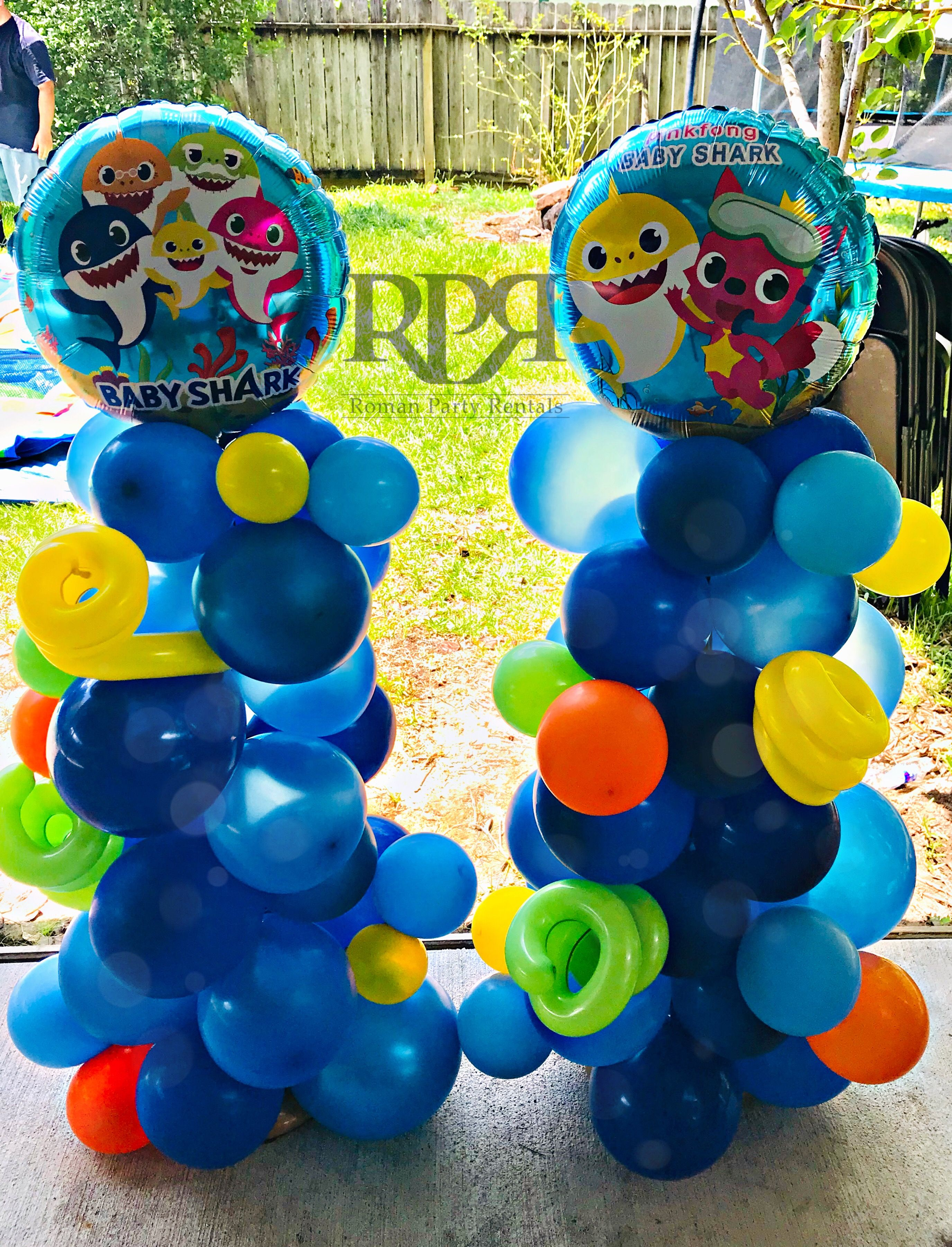 Pin By Rpr Balloon Decor On My Balloon Decor Shark Theme