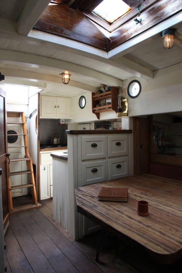 Image Result For Rustic Traditional Wooden Boat Interior Liveaboard Boat Design Ideas Boat