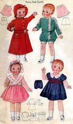 Sewing Pattern for Doll Clothes Patsy Dolls -  243