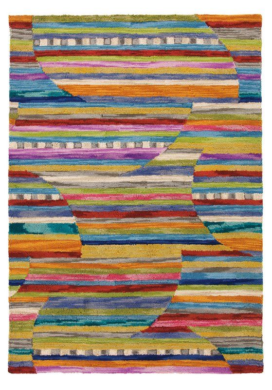 This Rug Is A Kaliedescope Of Color And Texture With