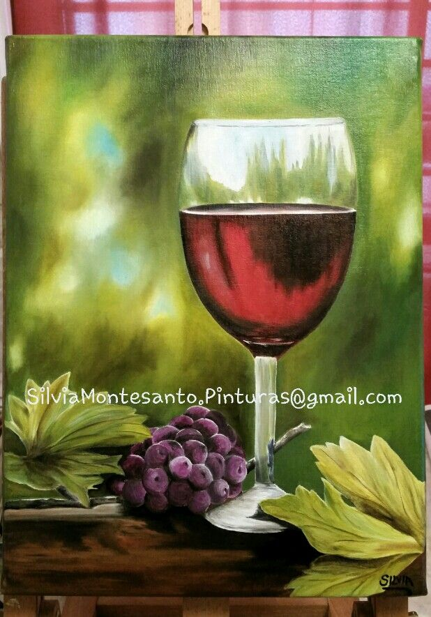 Copa de vino Oleo sobre tela / oil on canvas