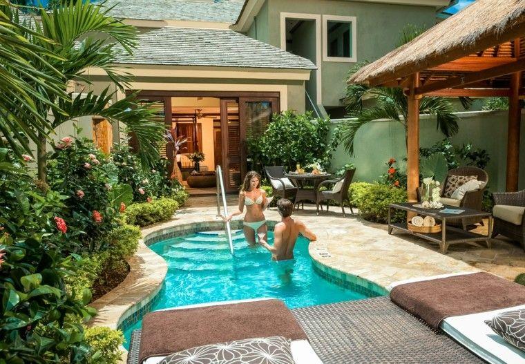 Dise o piscinas rusticas casas peque as buscar con for Disenos de jardines exteriores pequenos