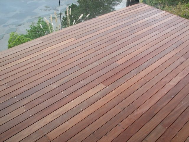 Wood that is perfect for wooden decking is clear douglas for Decking timber lengths
