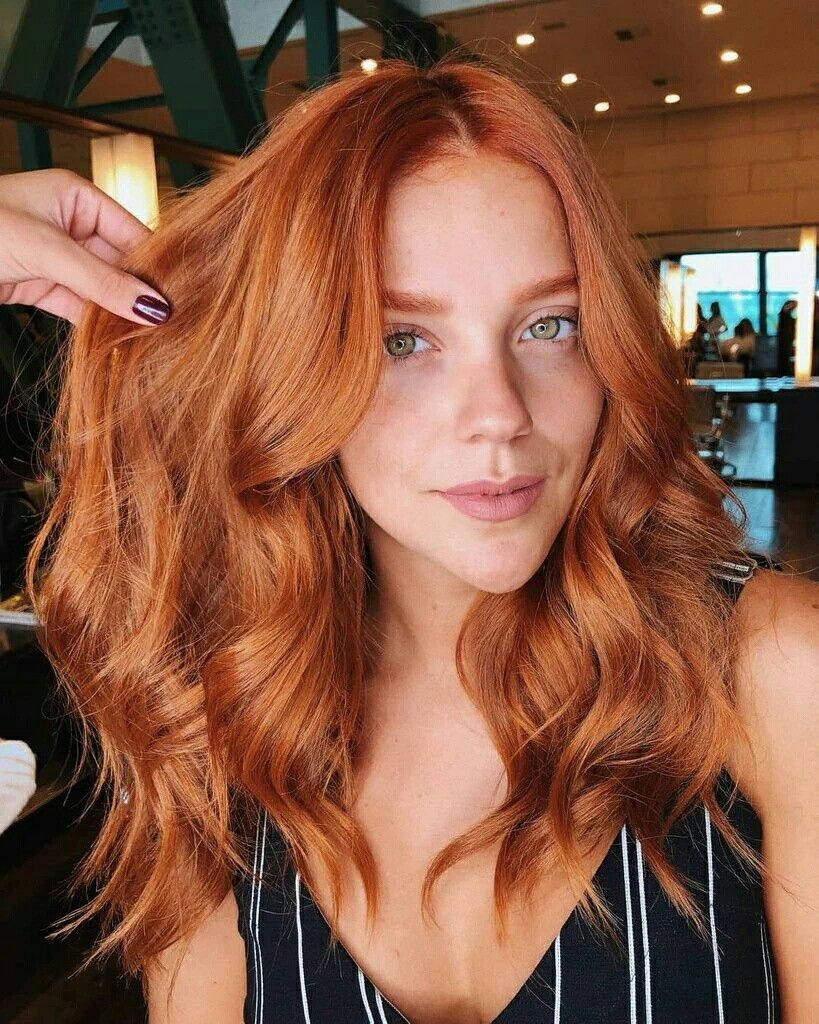 Gabi Lopes Ginger Hair Color Red Hair Trends Red Balayage Hair