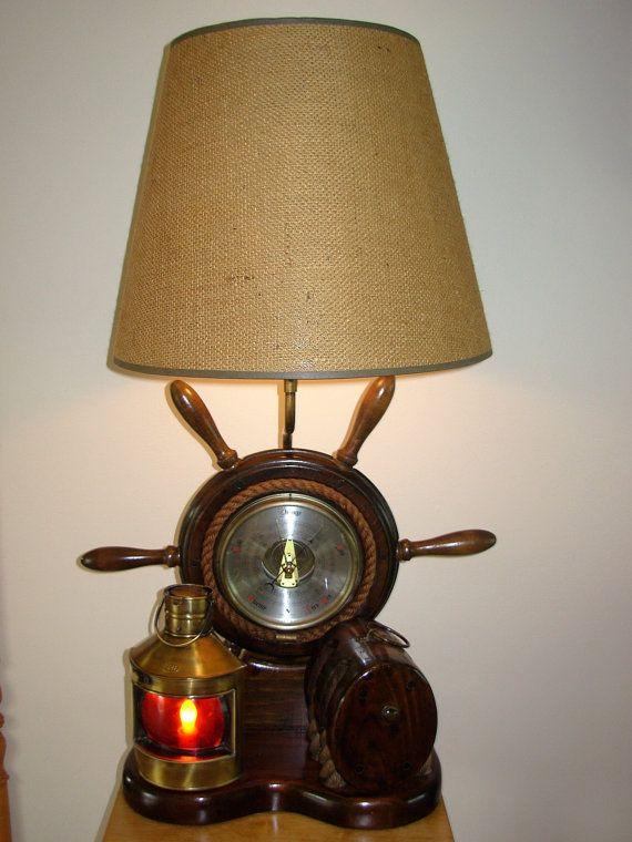 Vintage Milford Guild Barometer Nautical By Seamynauticalvintage Nautical Lamps Lamp Vintage Nautical