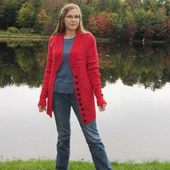 Ravelry: frederica's Cherry red sweater