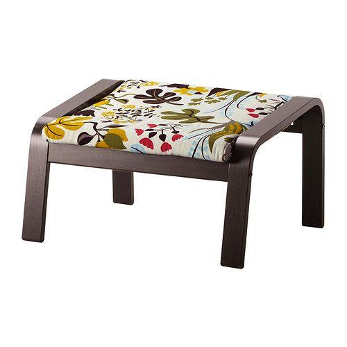 IKEA - POÄNG, Voetenbank, Blomstermåla veelkleurig, zwartbruin, , Het frame is gemaakt van gelaagd, vormgebogen berken, een zeer sterk en duurzaam materiaal.</t><t>Gebruik de voetenbank samen met de POÄNG fauteuil voor een extra comfortabele en ontspannen zithouding.</t><t>De overtrek is afneembaar en machinewasbaar en dus eenvoudig schoon te houden.</t><t>Extra kussens om af te wisselen waardoor je zowel je zitbank als je kamer eenvoudig een nieuwe look geeft.</t><t>Gratis 10 jaar garantie…