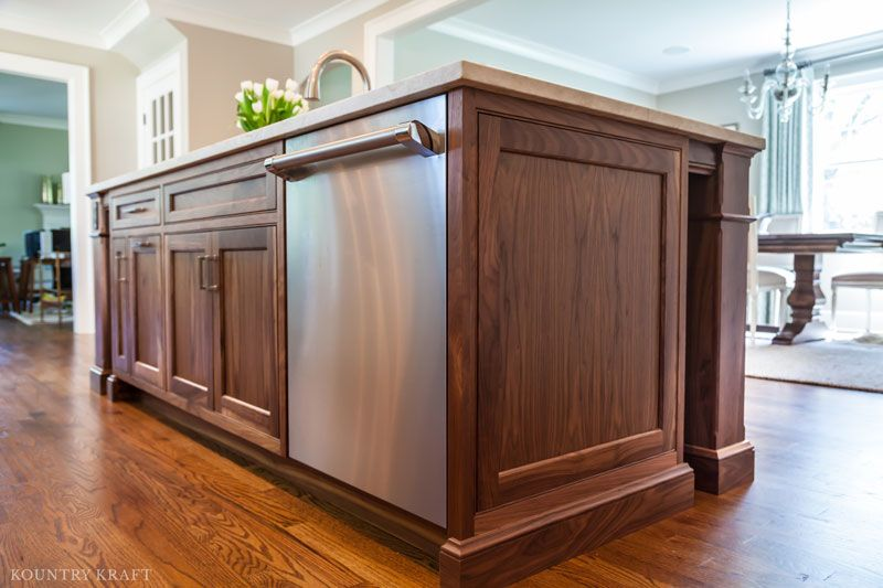 Kitchen with Walnut Island located in Madison, New Jersey https ...