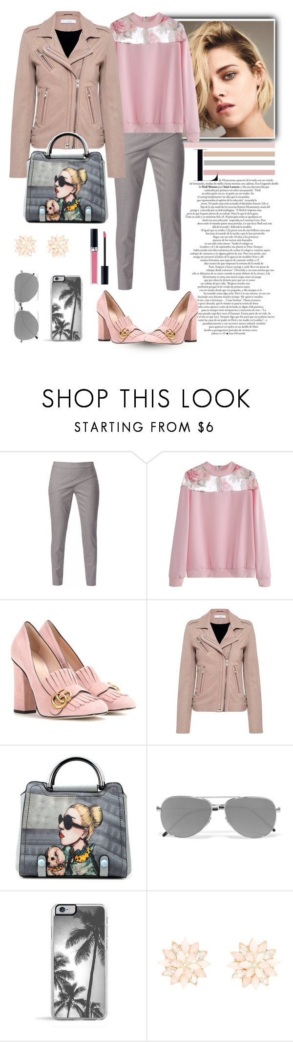 """Без названия #484"" by nastiabigatty ❤ liked on Polyvore featuring WtR London, Gucci, IRO, Yves Saint Laurent, Zero Gravity, Charlotte Russe and Christian Dior"