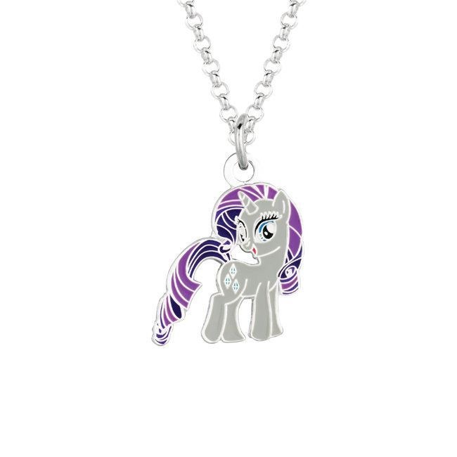 Fine silvertone rarity my little pony pendant necklace girls fine silvertone rarity my little pony pendant necklace girls size 18 inch white mozeypictures Images