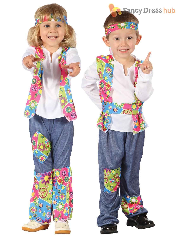 The Groovy 60/'s Daisy Hippie Child Girls Costume Fancy Dress Flower Power