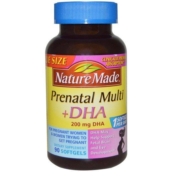 Nature Made Prenatal Multi Dha 90 Softgels Prenatal Prenatal Vitamins Supplements