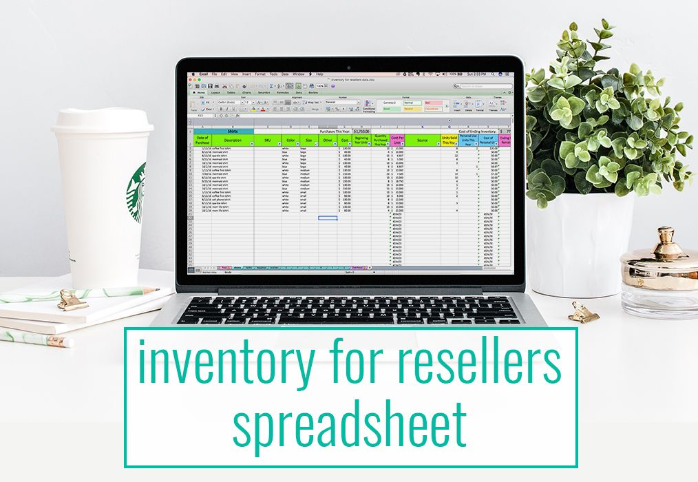 Inventory For Resellers Spreadsheet  Template Blogging And