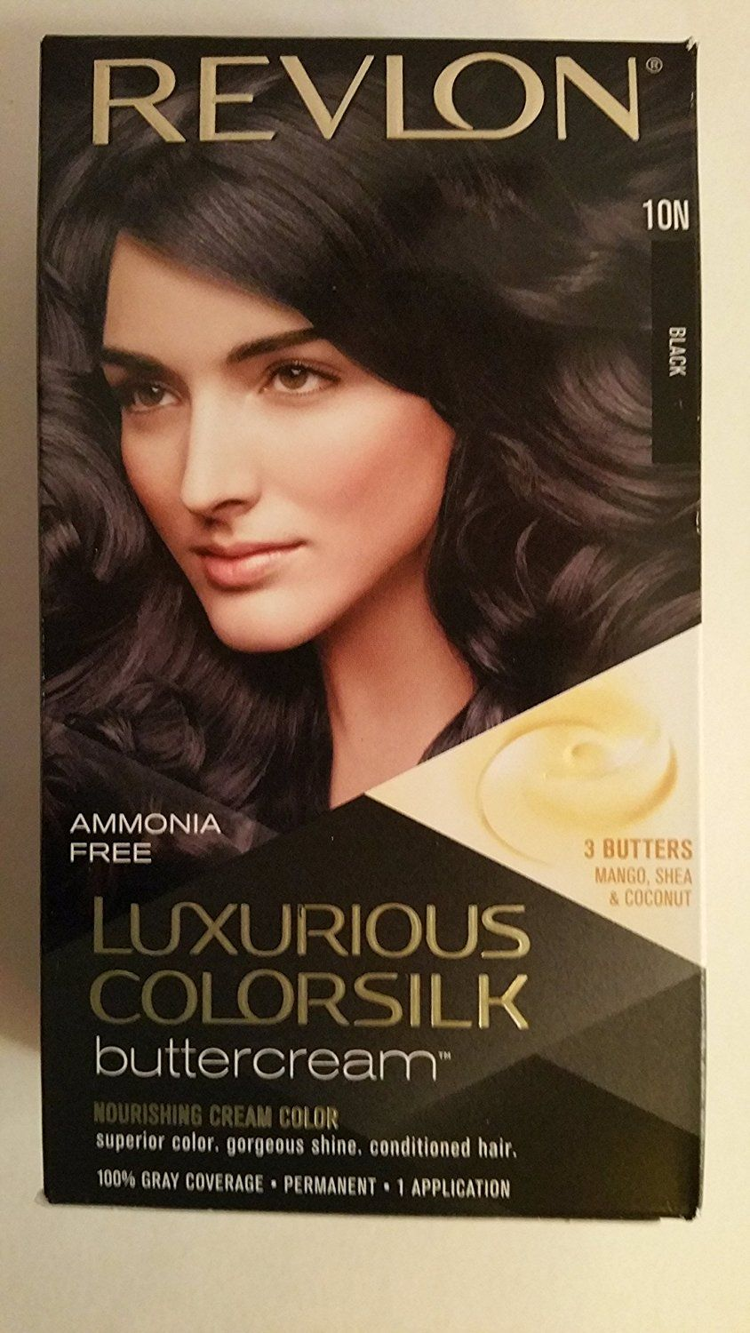 Revlon Luxurious Colorsilk Buttercream Haircolor (10N Black - 3 Pack) >>> This is an Amazon Affiliate link. Want additional info? Click on the image.