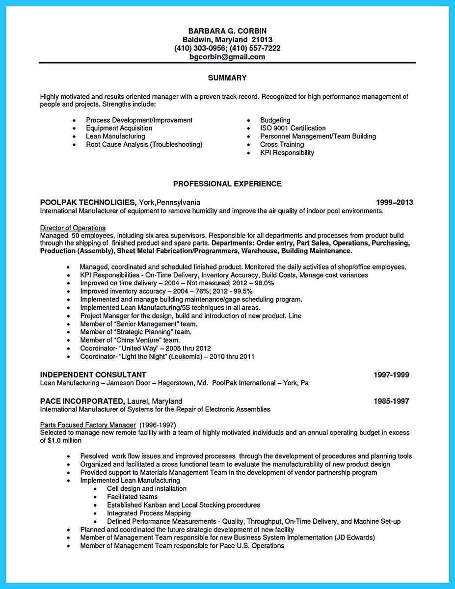 Assembly Line Worker Resume in 2020 Line worker, Job