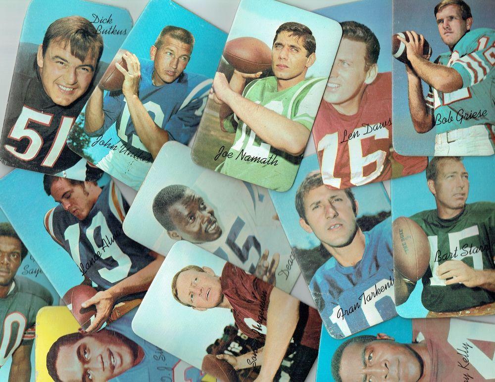 1970 Topps Football Super ComSet (35) Cards (VG+EX) UNITAS,NAMATH,STARR,SAYERS #NFL