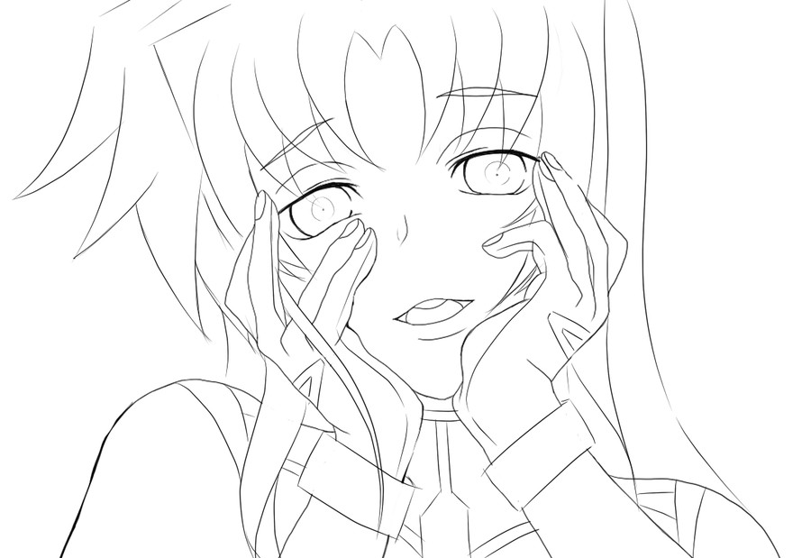 Fate Testarossa Ecstatic Yandere Pose By Leona8 Coloring Pages Rhpinterestca: Yandere Anime Coloring Pages At Baymontmadison.com