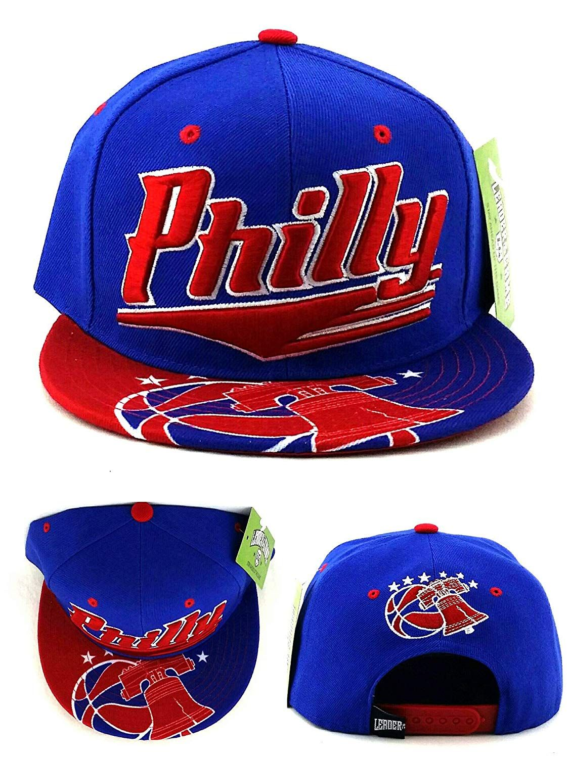 ae99306f1a0 Legend of the Game Philadelphia Philly Leader Liberty Bell Sixers 76ers  Colors Blue Red Era Snapback Hat