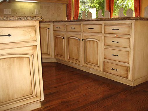 Captivating Ivory Painted Cabinets With Glaze Finish   Bing Images