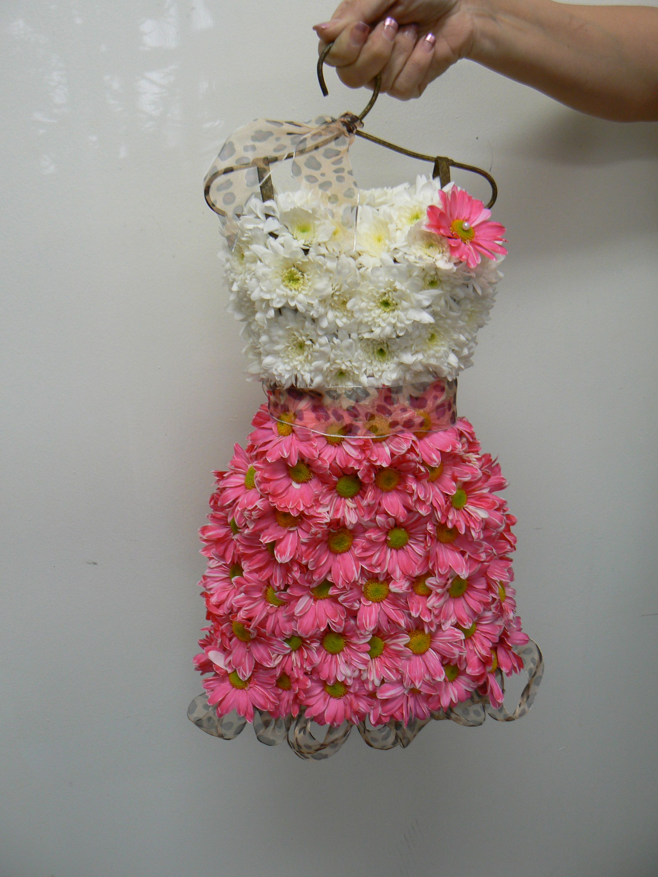 Hanging dress form with real flowers | CLOTHING MADE FROM ...