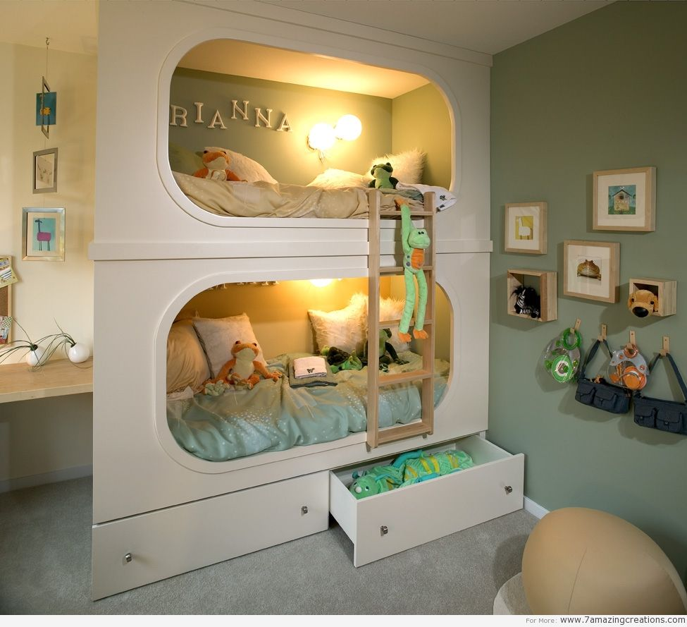Teenage loft bed ideas  Space Saving Furniture  House  Pinterest  Spaces Bunk bed and
