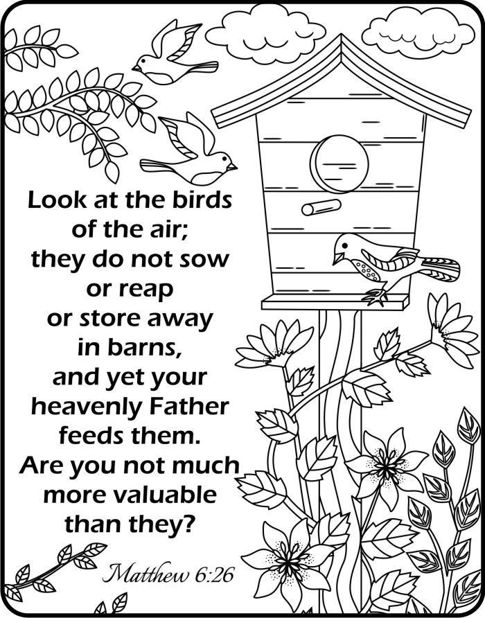 7200 Top Bible Coloring Pages Matthew 6 , Free HD Download