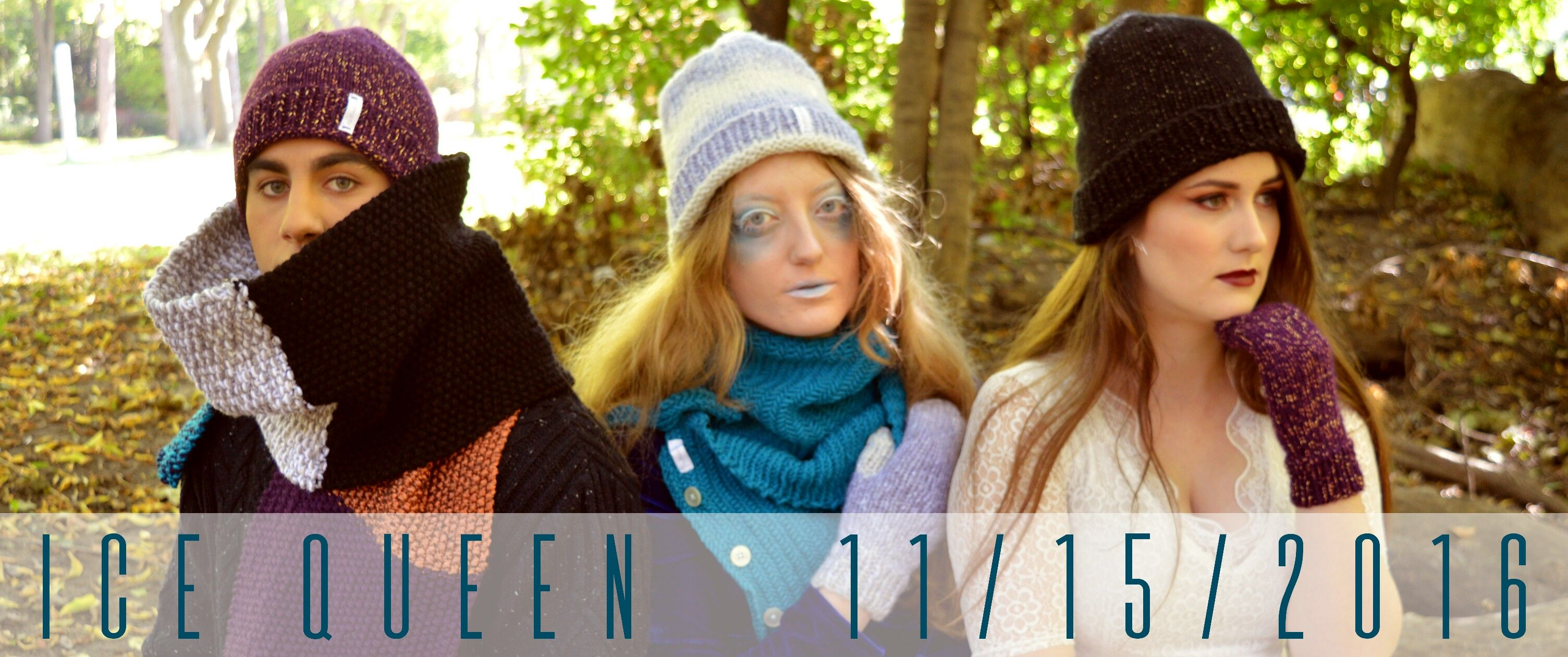 First look at the new knitwear collection, Ice Queen, for ByLivelyLoops on Etsy.