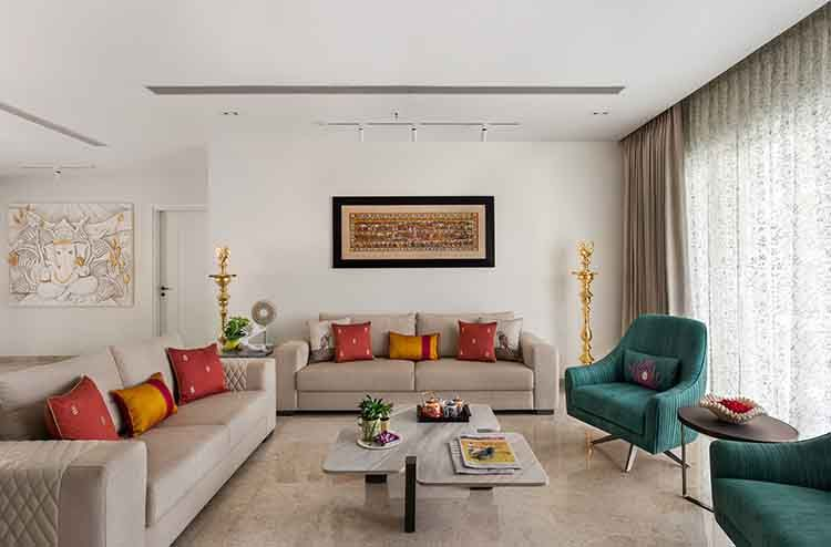 This Mumbai Apartment Will Woo You With Its Southern Charm Indian Living Rooms Apartment Interior Design Luxury Home Decor