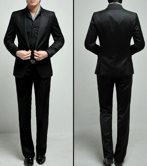 Prom Suits - Mens Prom Three Buttons Suits 2014-2015 - Black Prom ...