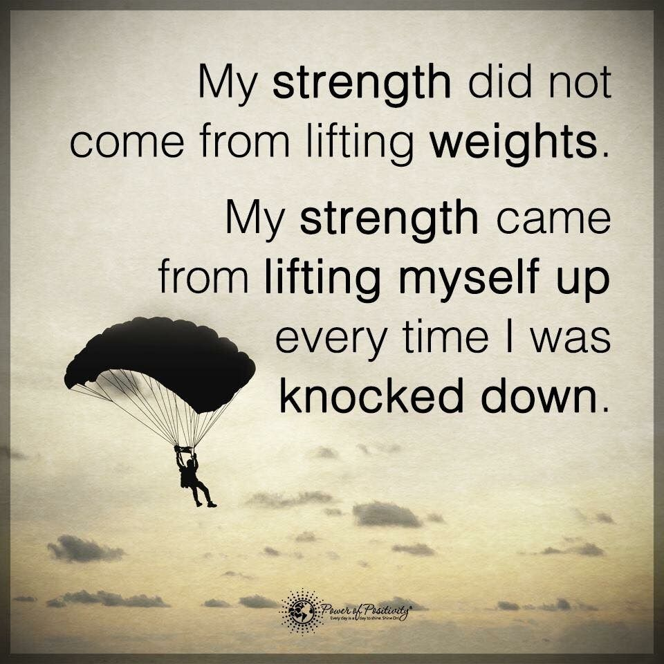Strength Quotes: My Strength Didn't Come From Lifting Weights. My Strength