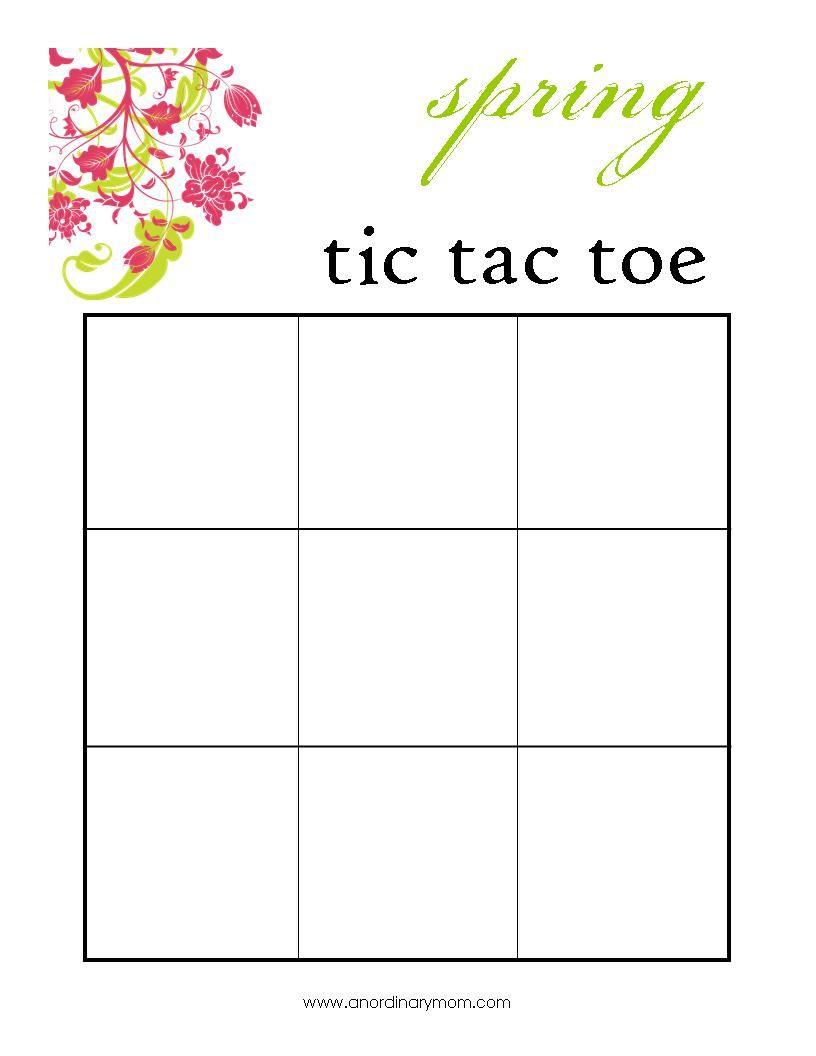 Magic image regarding free printable tic tac toe board