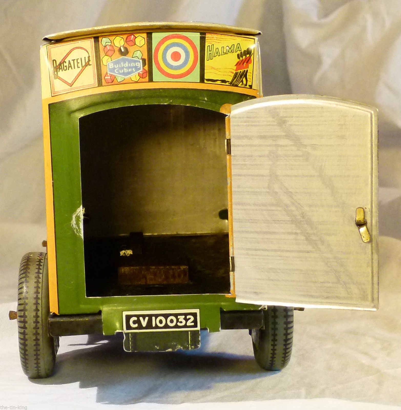 Superb Rare Antique Vintage TIN TOY Chad Valley Games Delivery VAN Biscuits TIN   eBay